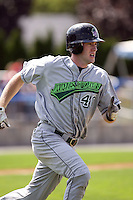 September 1 2008:  Jeremy Synan of the Jamestown Jammers, Class-A affiliate of the Florida Marlins, during a game at Dwyer Stadium in Batavia, NY.  Photo by:  Mike Janes/Four Seam Images