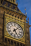 Big Ben, London, Great Britain, United Kingdom, detail of the Westminster Palace tower clock.