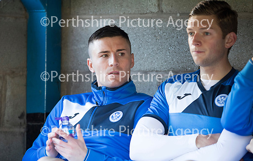 St Johnstone v Celtic…04.11.17…  McDiarmid Park…  SPFL<br />Michael O'Halloran sits on the bench<br />Picture by Graeme Hart. <br />Copyright Perthshire Picture Agency<br />Tel: 01738 623350  Mobile: 07990 594431