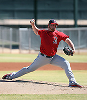 Sean O'Sullivan - Los Angeles Angels 2009 Instructional League, in a tuneup for the postseason against the Giants at the Angels minor league complex in Tempe, AZ - 10/14/2009. .Photo by:  Bill Mitchell/Four Seam Images..