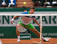 France, Paris, 27.05.2014. Tennis, French Open, Roland Garros, Igor Sijsling (NED) in his match against David Ferrer (ESP)<br /> Photo:Tennisimages/Henk Koster