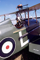 SE5A Replica of World War 1 British Fighter Plane - at Abbotsford International Airshow, BC, British Columbia, Canada