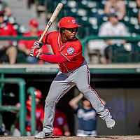 25 February 2019: Washington Nationals outfielder Chuck Taylor at bat during a pre-season Spring Training game against the Atlanta Braves at Champion Stadium in the ESPN Wide World of Sports Complex in Kissimmee, Florida. The Braves defeated the Nationals 9-4 in Grapefruit League play in what will be the Braves' last season at the Disney / ESPN Wide World of Sports complex. Mandatory Credit: Ed Wolfstein Photo *** RAW (NEF) Image File Available ***