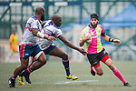 A-Trade Overseas Old Boys vs GoCloudWifi East Africans during their Bowl Quarter-final as part of the GFI HKFC Rugby Tens 2017 on 06 April 2017 in Hong Kong Football Club, Hong Kong, China. Photo by Juan Manuel Serrano / Power Sport Images