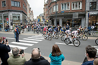 peloton rolling out at the race start in Leuven<br /> <br /> 61st Brabantse Pijl 2021 (1.Pro)<br /> 1 day race from Leuven to Overijse (BEL/202km)<br /> <br /> ©kramon