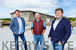 Barry Spellman, Tim O'Donoghue and Paul Sheahan on the Killarney Brewery construction site in Fossa on Tuesday