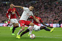 Dusan Tadic of Southampton is challenged by Eric Bailly of Manchester United<br /> Londra Wembley Stadium Southampton vs Manchester United - EFL League Cup Finale - 26/02/2017 <br /> Foto Phcimages/Panoramic/Insidefoto