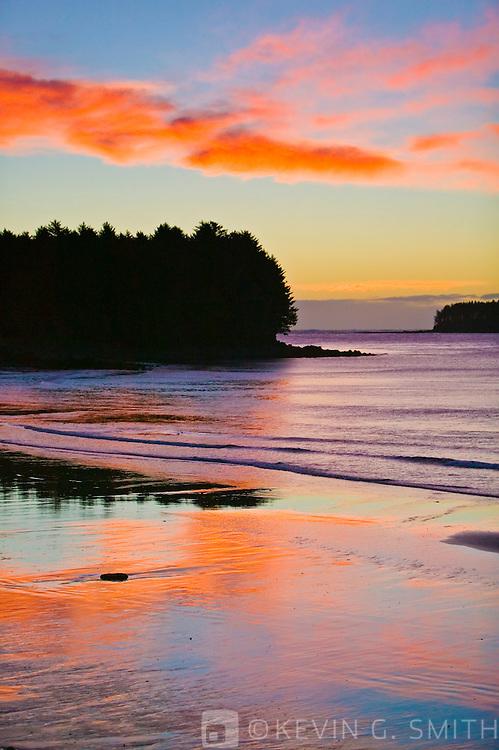 Beach sunrise, Chiniak Bay, Kodiak Alask