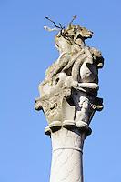 römische Jupitergigantensäule (1.-3. Jh.) in Obernburg am Main, Bayern, Deutschland