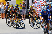 July 9th 2021. Carcassonne, Languedoc, France;   KRUIJSWIJK Steven (NED) of JUMBO - VISMA, VAN AERT Wout (BEL) of JUMBO - VISMA, TEUNISSEN Mike (NED) of JUMBO - VISMA during stage 13 of the 108th edition of the 2021 Tour de France cycling race, a stage of 219,9 kms between Nimes and Carcassonne.