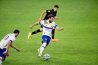 LOS ANGELES, CA - SEPTEMBER 02: Valeri Qazaishvili #11 of the San Jose Earthquakes dribbles with the ball during a game between San Jose Earthquakes and Los Angeles FC at Banc of California stadium on September 02, 2020 in Los Angeles, California.