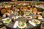Tables at the Holocaust Museum Houston's Guardian of the Human Spirit Luncheon at the Hilton Americas Hotel Monday Nov.18, 2013. (Dave Rossman photo)
