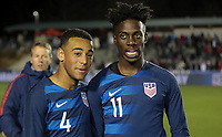 Cary, N.C. - Tuesday March 27, 2018: Tyler Adams, Timothy Weah during an International friendly game between the men's national teams of the United States (USA) and Paraguay (PAR) at Sahlen's Stadium at WakeMed Soccer Park.