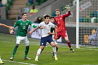 BELFAST, NORTHERN IRELAND - MARCH 28: Gio Reyna #7 of the United States during a game between Northern Ireland and USMNT at Windsor Park on March 28, 2021 in Belfast, Northern Ireland.