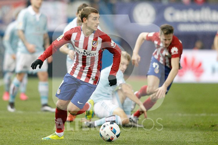 Atletico de Madrid's Antoine Griezmann during Spanish Kings Cup match. January 27,2016. (ALTERPHOTOS/Acero)