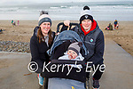 Sean, Niamh and Daithi Lyons enjoying a stroll on Banna beach on Sunday.