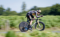 After winning bunch sprints and a mountain stage, Wout Van Aert (BEL/Jumbo Visma) now wins an individual time trial in the Tour > his 5th stage win in 3 Tours<br /> <br /> Stage 20 (ITT) from Libourne to Saint-Émilion (30.8km)<br /> 108th Tour de France 2021 (2.UWT)<br /> <br /> ©kramon