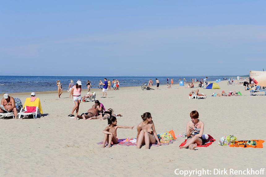 am Strand von Jurmala-Dzintari, Lettland, Europa
