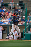 Scranton/Wilkes-Barre RailRiders Gosuke Katoh (50) at bat during an International League game against the Rochester Red Wings on June 24, 2019 at Frontier Field in Rochester, New York.  Rochester defeated Scranton 8-6.  (Mike Janes/Four Seam Images)