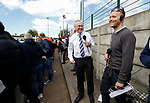 BBC local radio commentators in the Fylde end. Vanarama National League North, Promotion Final, North Ferriby United v AFC Fylde, 14th May 2016.