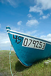 Fishing boat on the beach at Parson's Point, Newfoundland