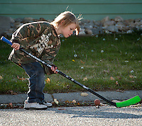 Street photography of the next young Wayne Gretzky.