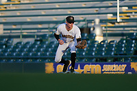 Bradenton Marauders first baseman Michael Gretler (10) during a Florida State League game against the Jupiter Hammerheads on April 19, 2019 at LECOM Park in Bradenton, Florida.  Bradenton defeated Jupiter 7-1.  (Mike Janes/Four Seam Images)