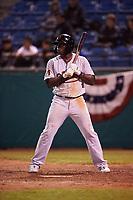 Visalia Rawhide left fielder Yoel Yanqui (29) during a California League game against the San Jose Giants on April 12, 2019 at San Jose Municipal Stadium in San Jose, California. Visalia defeated San Jose 6-2. (Zachary Lucy/Four Seam Images)