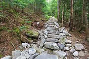 July 2012 - Stone steps along the Mt Tecumseh Trail in Waterville Valley, New Hampshire. In 2011, the year trail work (stone steps) was done in this section, there was no noticeable erosion on the hillside of the trail. See how this section of trail looked in 2011: http://bit.ly/3760BXz