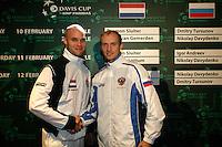 9-2-06, Netherlands, tennis, Amsterdam, Daviscup.Netherlands Russia, Draw, van Gemerden and Davydenko