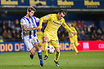 Nicola Sansone (r) of Villarreal CF battles for the ball with Inigo Martinez Berridi of Real Sociedad during their Copa del Rey 2016-17 Round of 16 match between Villarreal and Real Sociedad at the Estadio El Madrigal on 11 January 2017 in Villarreal, Spain. Photo by Maria Jose Segovia Carmona / Power Sport Images