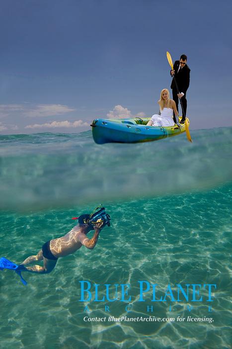 Just Murried Couple , Kassandra , Chalkidiki , North Greece , Aegean Sea, Mediterranean , Digital composition , MR