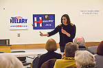 Hillary Clinton supporters, Pre-Caucus meeting, Jefferson County WA Democrats for Hillary, Port Townsend, Michael Kimmelman, State Lead, Hillary for President, speaker, Jefferson County, Washington State, 02-17-2016,