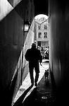 Walking through the narrow streets of Utrecht, the Netherlands.