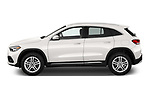 Car Driver side profile view of a 2021 Mercedes Benz GLA GLA250 5 Door SUV Side View