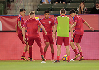 Carson, CA - Sunday January 28, 2018: Rubio Rubin, Russell Canouse, Nick Lima, Kelyn Rowe, Marco Delgado, USMNT during an international friendly between the men's national teams of the United States (USA) and Bosnia and Herzegovina (BIH) at the StubHub Center.