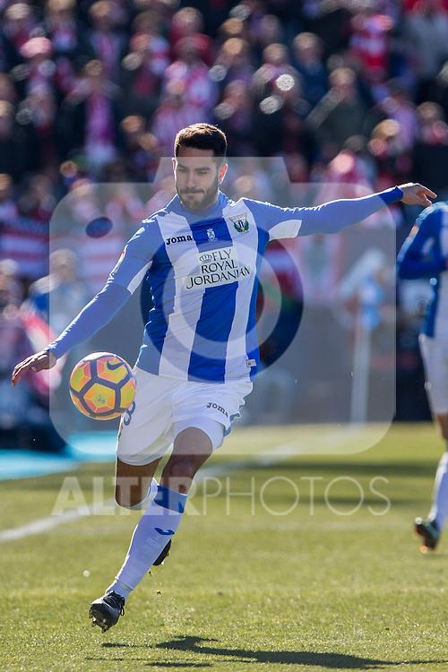 Club Deportivo Leganes's Unai Bustinza during the match of La Liga between Leganes and Athletic Club at Butarque Stadium  in Madrid , Spain. January  14, 2017. (ALTERPHOTOS/Rodrigo Jimenez)