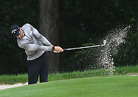 11th July 2021, Silvis, IL, USA; Patrick Rodgers hits out of a sand trap on the #6 hole during the final round of the John Deere Classic on July 11, 2021, at TPC Deere Run, Silvis, IL.