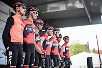 Team BMC on the pre race team presentation.<br /> <br /> 102nd Kampioenschap van Vlaanderen 2017 (UCI 1.1)<br /> Koolskamp - Koolskamp (192km)