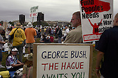 Washington DC, District of Columbia<br /> USA<br /> September 24, 2005 <br /> <br /> Anti-Iraqi war demonstration in Washington DC. High turn out and could have been the 100,000 expected.<br /> <br /> It was attended by Cindy Sheehan, the mother of a fallen soldier in Iraq, whose protest outside President Bush's Texas ranch during the summer mobilized many anti-war supporters.