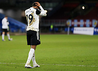 17th February 2021; Turf Moor, Burnley, Lanchashire, England; English Premier League Football, Burnley versus Fulham; Ademola Lookman of Fulham reacts after missing a goal scoring opportunity