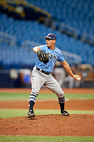 Nick Sprengel (25) delivers a pitch during the Tampa Bay Rays Instructional League Intrasquad World Series game on October 3, 2018 at the Tropicana Field in St. Petersburg, Florida.  (Mike Janes/Four Seam Images)