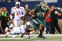 November 16, 2013:<br /> <br /> Baylor Bears inside receiver Levi Norwood #42 rushes past Texas Tech Red Raiders defensive back Tre' Porter #5 while returning a kick of touchdown during NCAA football game at At&t Stadium in Arlington in Waco, TX. Baylor remained undefeated in BIG 12 Conference with a 63-34 victory over Texas Tech.