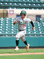 Mosley Dolphins Jaden  Rudd (24) scores a run during the 42nd Annual FACA All-Star Baseball Classic on June 5, 2021 at Joker Marchant Stadium in Lakeland, Florida.  (Mike Janes/Four Seam Images)