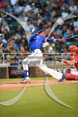 Kevin Vargas (1) of International Baseball Academy in La Mareas de Salinas, Puerto Rico during the Under Armour All-American Game presented by Baseball Factory on July 29, 2017 at Wrigley Field in Chicago, Illinois.  (Mike Janes/Four Seam Images)