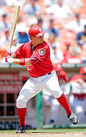15 June 2006: Ryan Zimmerman, third baseman for the Washington Nationals, at bat against the Colorado Rockies at RFK Stadium, in Washington, DC. The Rockies defeated the Nationals, 8-1 to sweep the four-game series...Mandatory Photo Credit: Ed Wolfstein Photo...