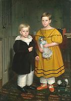 Peckham, Robert 1785–1877.<br /> <br /> The Raymond Children, Painting, ca. 1835–1838.<br /> <br /> Oil on canvas, 140.3 × 99 cm.<br /> Inv. Nr. 66.242.27<br /> New York, Metropolitan Museum of Art.