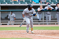 Montgomery Biscuits right fielder Moises Gomez (21) at bat against the Tennessee Smokies on May 9, 2021, at Smokies Stadium in Kodak, Tennessee. (Danny Parker/Four Seam Images)