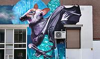 Nederland - Rotterdam- 2020.  Muurschildering van Nina Valkhoff. Street art-festival POW! WOW! Rotterdam rondom het Afrikaanderplein.  Foto ANP / Hollandse Hoogte / Berlinda van Dam