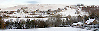View of snow on moors from Castleton over the Esk valley - Noth Yorks Moors National Park.